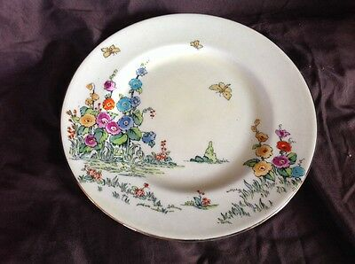 "Crown Staffordshire 9"" Poppy Plate est. 1801 Made in England Fine Bone China GUC"