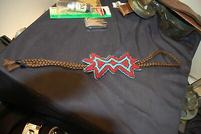Vintage native american beaded bolo no reserve must see!!