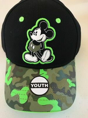 Disney Mickey Mouse Baseball Camp Black Youth Boys Boy Hat Cap