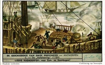 Advertising Liebig Card History Of Our Provinces The War Boiler