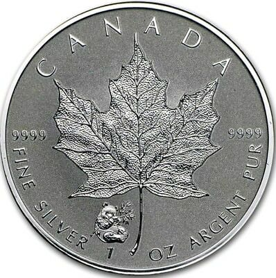 2016 1 Oz Silver $5 PAND PRIVY Maple Leaf Reverse Proof Coin.