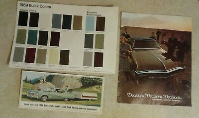 1968-69 Buick  Product Brochure Lot