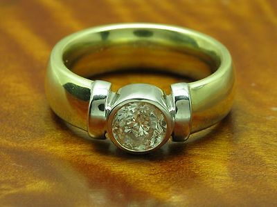 14kt 585 GOLD RING MIT 1,00ct BRILLANT SOLITÄR BESATZ / BRILLANTRING DIAMANTRING