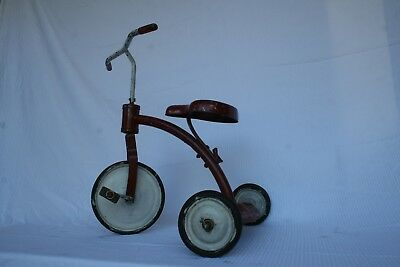 Antique, Vintage Toy Tricycle circa 1930, Red, Unrestored