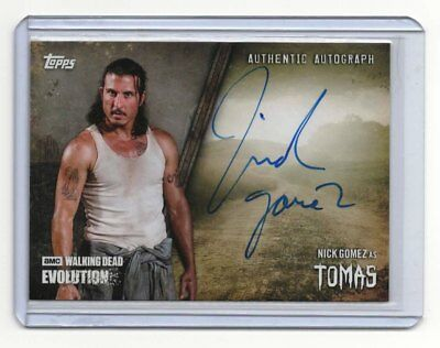 2017 Topps The Walking Dead Evolution NICK GOMEZ as TOMAS Auto Autograph Card