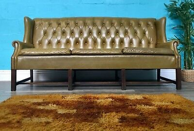 Superior Quality Retro Mid Century Vintage 70S High Back Chesterfield Sofa