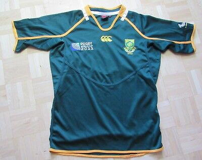 South Africa RUGBY World Cup 2011 shirt jersey CANTERBURY Springboks men SIZE S