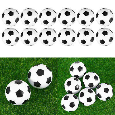 12pcs Foosball Table Replacement Black and White Mini Soccer Balls for Men Women