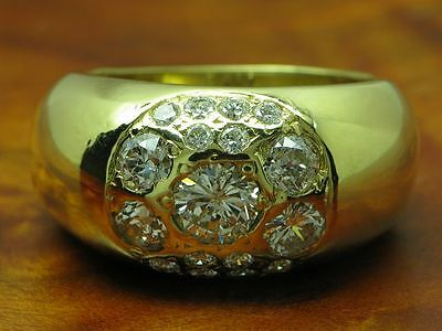18kt 750 GOLD RING MIT 1,26ct BRILLANT BESATZ / BRILLANTRING DIAMANTRING
