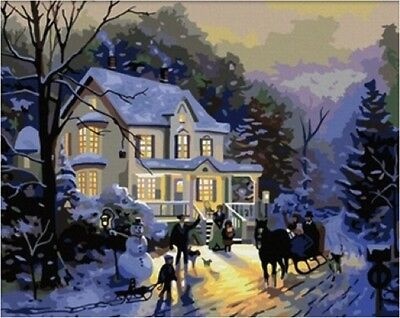 Paint by Numbers Kit 40x50cm with FRAME - Romantic Winter