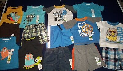 Lot of New Boys Summer Clothes - Size 18 months - Jumping Beans