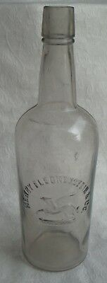 Henry Fleckenstein & Co griffin whisky bottle vintage western Portland OR