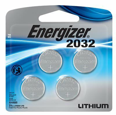 Energizer Cr2032 3 Volt Lithium Coin Battery, 4 Count 2032