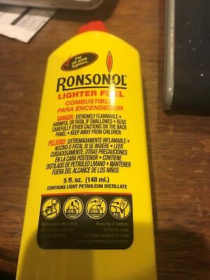 Ronsonol Best Lighter Fuel 5 OZ Bottle works with All Wick-Type Lighters