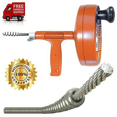 Cleaning Clog Ridgid Plumbing Power Spin Drain Cleaner