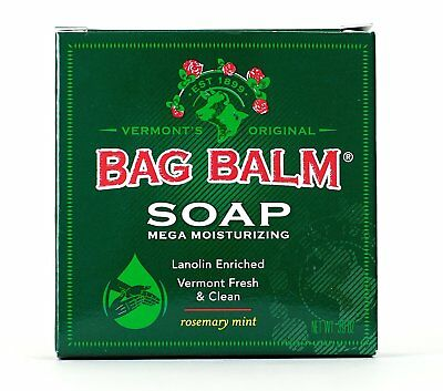 Bag Balm Mega Moisturizing Soap 3.9 Oz Lanolin-Enriched Vermont Clean & Fresh.