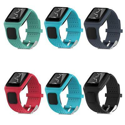 Silicone Replacement Soft Wrist Watch Band Strap For TomTom Sport / Cardio Watch