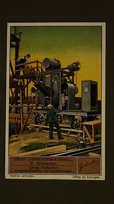 Advertising Liebig Card Large Contractor Equipment Concrete Mills