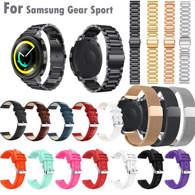 Stainless Steel/Luxury Leather Bracelet Watch Band Strap For Samsung Gear Sport