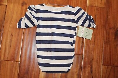 Girls 4 4T Boutique Persnickety Navy White Striped Shirt New w/ Tags Super Soft