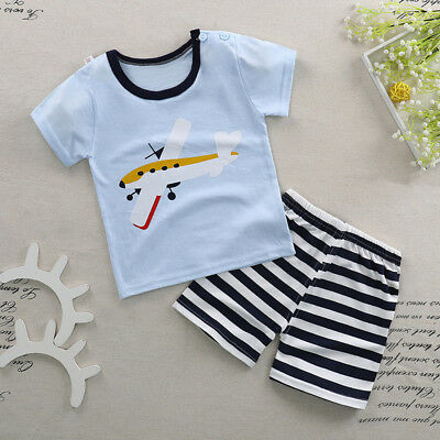 Toddler Boys Clothing Sets 2pcs Cartoon T shirt+Shorts Cotton Baby Outfits Suits