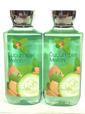 Lot 2 Bath & Body Works Cucumber Melon Shower Gel Shea & Vitamin E Body Wash