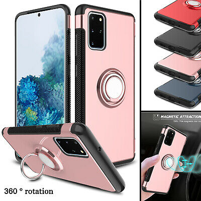 For Samsung Galaxy S10+/Note 9/S9+ Shockproof Ring Stand Hard Armor Case Cover