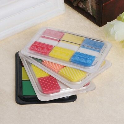 3 Pads/Set Bookmark Index Tabs Fluorescent Sticky Notes Page Marker Creative