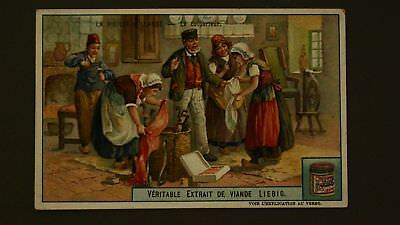 Advertising Liebig Card Old Holland The Collector