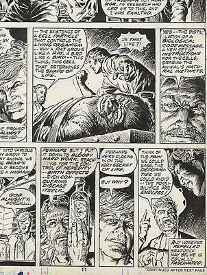 Bronze Age Marvel Comics Original Art Island of Dr. Moreau Issue 1 Page11