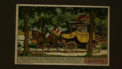 Advertising Liebig Card The Stagecoach