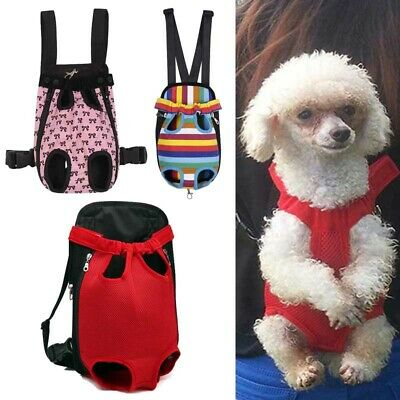 Dog Backpack Carrier Adjustable Pouch Pet Front Puppy Cat Travel Bag Legs Out