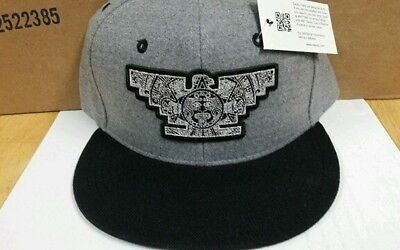 685ba2b6de7 Mens Chicano Lowrider Black Hat Aztec Bird Custom Design snapback Black    Silver
