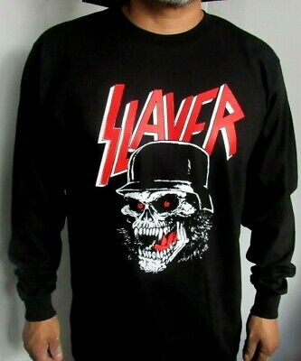 Slayer Skull Metal Rock Long Sleeve Mens Sizes