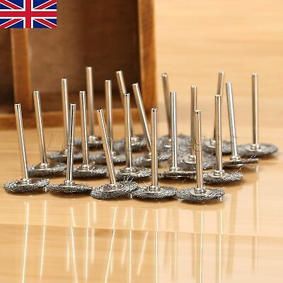 20Pcs 22mm Stainless Wire Wheels Polishing Brushes Grinder Power Rotary Tool HQ