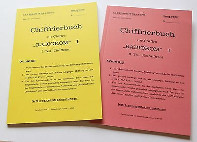 "K.u.K. Chiffrierbuch ""Radiokom I"" WK1 - military cipher code book WW  new print"
