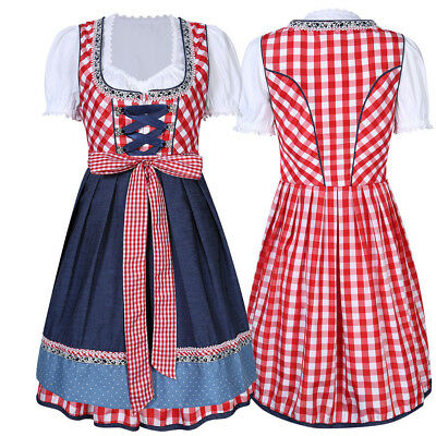1 Set Cheers Traditional German Oktoberfest Dirndl Fancy Dress Servants Costume