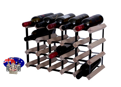 18 or 20 Bottle Timber Wine Rack -NATURAL PINE- Borders Original - Free Postage