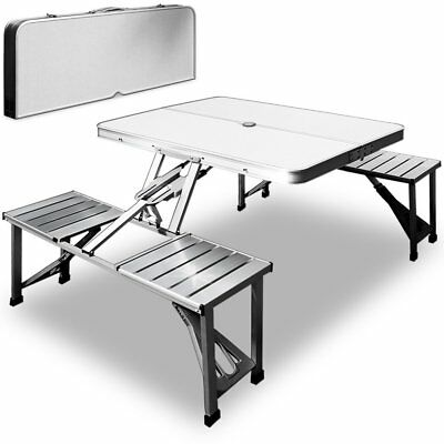 Camping Folding Table Chairs Set Outdoor Bbq Picnic Dining Furniture Aluminium
