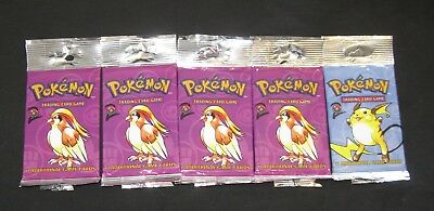 Pokemon Cards - EMPTY OPENED - Base Set 2 Booster Pack Wrappers