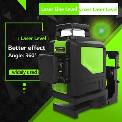 1pc Laser Level Green 8-Line Self Leveling Cross Line 360° Rotary Leveling Tool