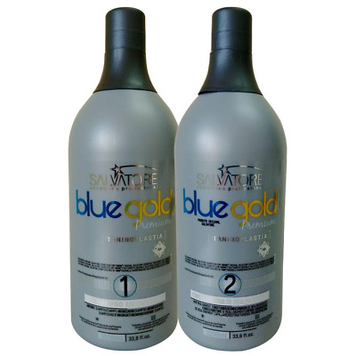 Kit Taninoplastie 0% de formol - Salvatore Blue Gold - Lissage Brésilien