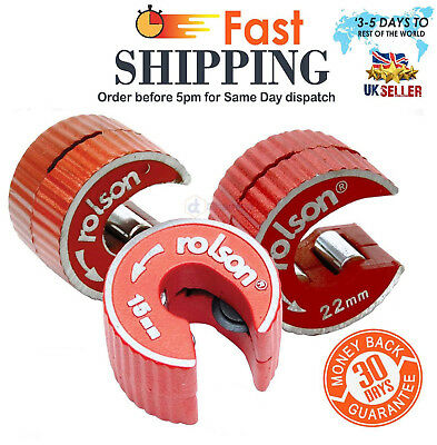 Rolson Rotary 15mm 22mm Copper Pipe Tube Cutter Self-Locking UK SELLER