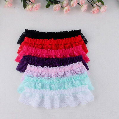 Women Cosplay Lace Elastic Sleepwear Thigh High Leg Socks Garter Belt Party Ring
