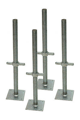 4 x New 650mm Adjustable Base Jacks Heavy Duty Screw Jacks 4 Tonne ECO