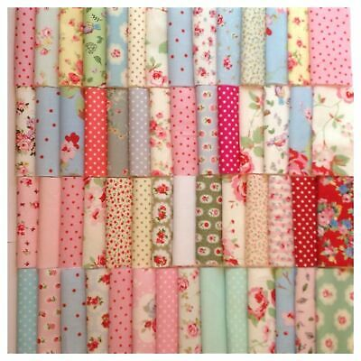80Pcs 100% Cotton Fabric Patchwork Sewing Baby Doll Clothes Handmade DIY Crafts