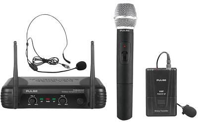 Handheld & Bodypack Vhf Wireless Mic - Pwm200Vhf-Hh/Bp