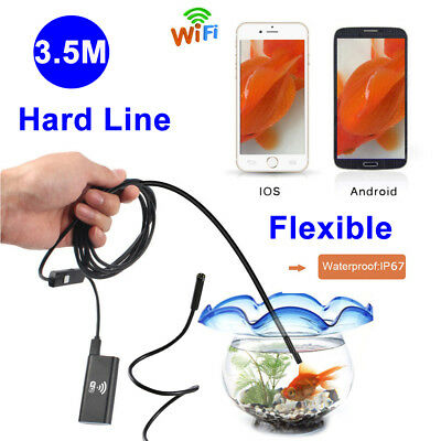 2m Wifi 8mm Endoscope Snake Borescope Micro USB Inspection 2MP HD Waterproof Cam