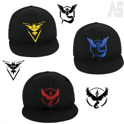 Pokemon Go Baseball CapTeam Mystic Instinct Valor Blue Yellow Red Cosplay Hat UK