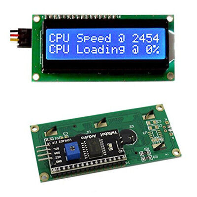 Blue IIC/I2C/TWI/SP​I Interface1602 16x2 Serial LCD Module Display for Arduino